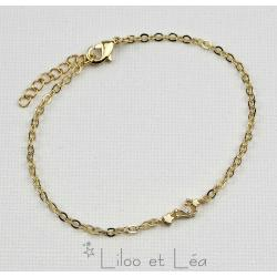Bracelet doré CONSTELLATION signe du zodiaque LION