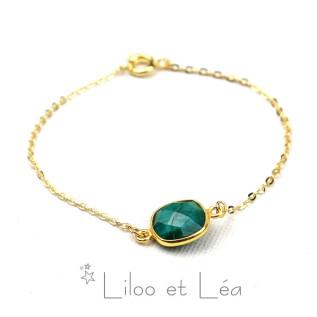Bague ovale cristal Swarovski, argent couleur émeraude