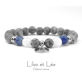 Boucles d'oreilles ALEXANDRINE blanc opale