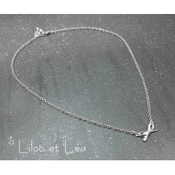 COLLIER NOEUD ARGENT MASSIF 925