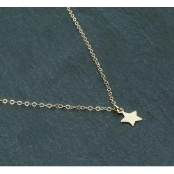 COLLIER PENDENTIF ÉTOILE EN OR GOLD FILLED 14 CARATS