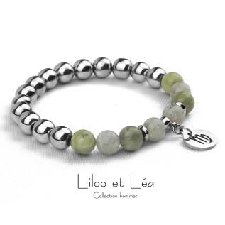 Collier AGATHE blanc opale