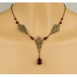 Collier FAUSTINE rouge