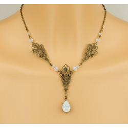 Collier FAUSTINE blanc opale