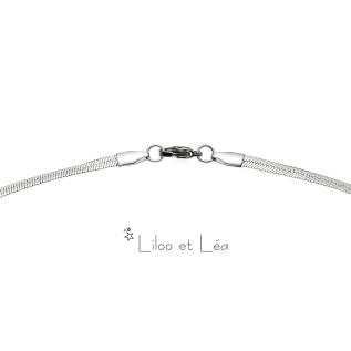 Boucles d'oreilles FAUSTINE argenté blanc opale