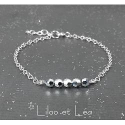 BRACELET SWAROVSKI BAR ARGENT VERSION 1, ARGENT MASSIF 925