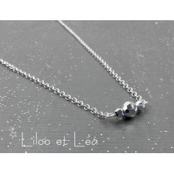 COLLIER SWAROVSKI BAR ARGENT VERSION 1, ARGENT MASSIF