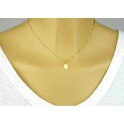 COLLIER PENDENTIF LOSANGE EN OR GOLD FILLED 14 CARATS