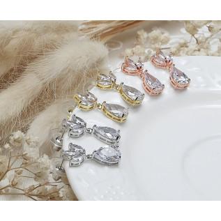BRACELET PIERRE CARRÉE SPINELLE NOIRE, PLAQUÉ OR GOLD FILLED 14 carats
