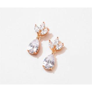 COLLIER PENDENTIF PIERRE CARRÉE QUARTZ ROSE, PLAQUÉ OR GOLD FILLED 14 carats