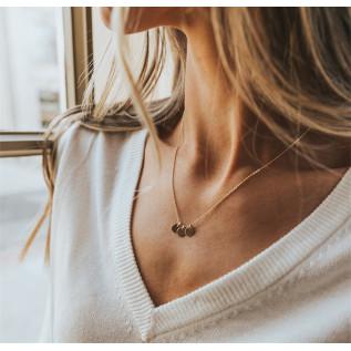 Boucles d'oreilles HAWAII, petites pépites de verre de mer pervenche et pendentif olive