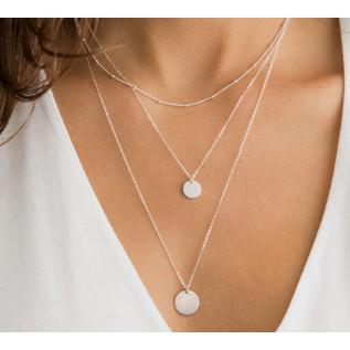 Collier BAHAMAS, pépite en verre de mer pacific blue, pendentif étoile de mer